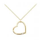 Золотой кулон с бриллиантом «Сердце»