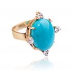 Золотое кольцо с бирюзой «Офелия»