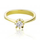 Золота заручальна каблучка з діамантом 0.3 ct «My Paris»