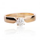 Золотое помолвочное кольцо с бриллиантом 0.28 Сt «Nadin»