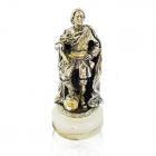 """Серебряная статуэтка """"Петр І"""""""