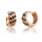Золоті сережки-кільця з цирконієм «Аліша»