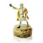 """Серебряная статуэтка с позолотой """"Мадам Грицацуева"""""""