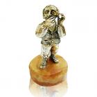 """Серебряная статуэтка с позолотой """"Ювелир"""""""