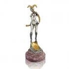 """Серебряная статуэтка с позолотой """"Девушка Джокер"""""""