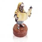 """Серебряная статуэтка с позолотой """"Раввин с Торой"""""""