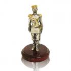 """Серебряная статуэтка с позолотой """"Николай II"""""""