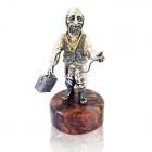 """Серебряная статуэтка с позолотой """"Доктор"""""""