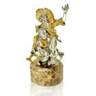 Серебряная статуэтка «Казаки» с позолотой