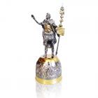 """Рюмка-статуэтка серебряная """"Юлий Цезарь"""""""