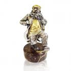 Серебряная статуэтка с позолотой «Танцор »Семь-сорок«»