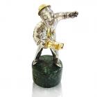 """Серебряная статуэтка """"Еврей с бубном"""""""