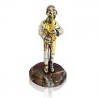 """Серебряная статуэтка """"Еврей с саксофоном"""""""