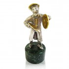 """Серебряная статуэтка """"Еврей с тарелками"""""""