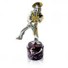 """Серебряная статуэтка """"Еврей с кларнетом"""""""