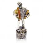 """Серебряная статуэтка """"Еврей с аккордеоном"""""""