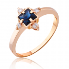 Золотое кольцо с сапфиром «Selena»