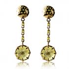 Золоті сережки з кварцом «Margaret»