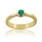 Золотое кольцо с изумрудом «Изумрудная радость»