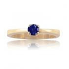 Изящное кольцо с натуральным сапфиром из золота