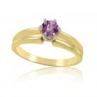 Золотое кольцо с аметистом «Скрипачка»