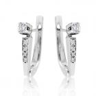 Золоті сережки з діамантами «Софія»