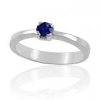 Золотое помолвочное кольцо с сапфиром 0,22 ct «Радость»