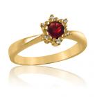 Золоте кільце з гранатом «Царівна Будур»
