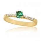 Золотое кольцо с изумрудом «Андромеда»