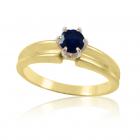 Золотое кольцо с сапфиром «Скрипачка»