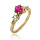 Золотое кольцо с рубином 0.5 карат «Paris»