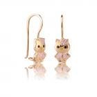 Золотые детские серьги «Kitty»