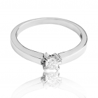 Золотое кольцо с бриллиантом 0.10 карат «Sentence»