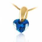 Золотий кулон з цирконієм ограновування серце «Серце»