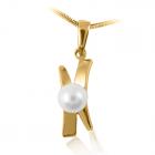 Золотий кулон з перлами «Люба моя Еллі»