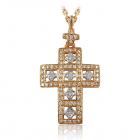 Золотий кулон з діамантами «На щастя»
