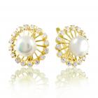 Золоті сережки з перлами «Paradise»