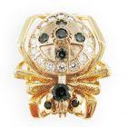 Золотое кольцо с бриллиантами «Паук»