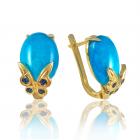 Золоті сережки з бірюзою «Lolita»