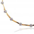 Золотой браслет с бриллиантами «Драгоценный гипюр»
