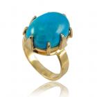 Золотое кольцо с бирюзой «Беатрис»