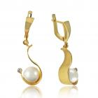 Золотые серьги с жемчугом «Бонита»