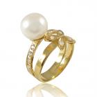 Золота каблучка з перлами «Амаранта»