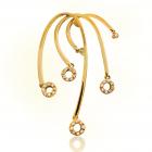 Золотой кулон с цирконием «Ивушка»
