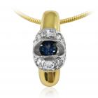 Золотой кулон с топазом «Глаз дракона»