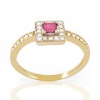 Золоте кільце з рубіном і діамантами «Pret-a-porte II»