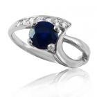 Золотое кольцо с сапфиром «Vilonchel»