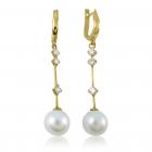 Золоті сережки з перлами «Natalie»