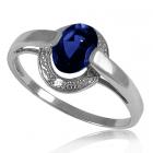 Золотое кольцо с сапфиром «Небо Лондона»