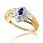 Золотое кольцо с сапфиром «Лорелея»